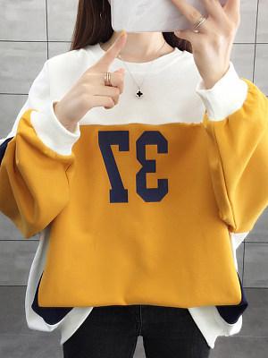 Loose Colorblock Sweatshirt
