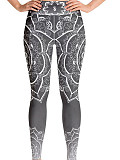 Image of Fashion high waist skinny printed leggings
