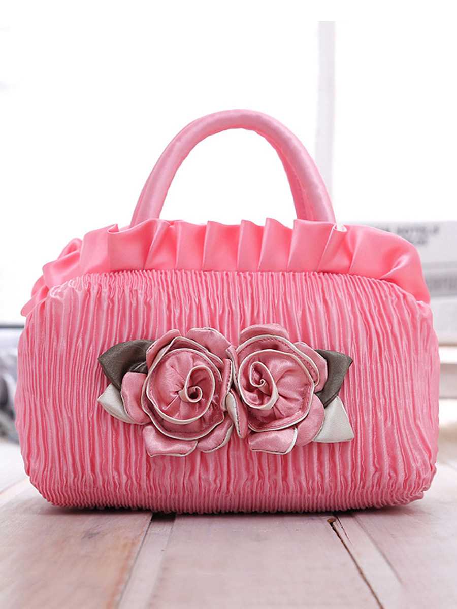 BerryLook Creative new ladies handbag mother key tide Korean canvas bag fabric lace bag solid color zipper bag