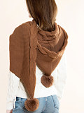 Image of New autumn and winter hooded knitted scarf shawl