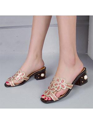 Women's Casual Rhinestone Studded Sandals