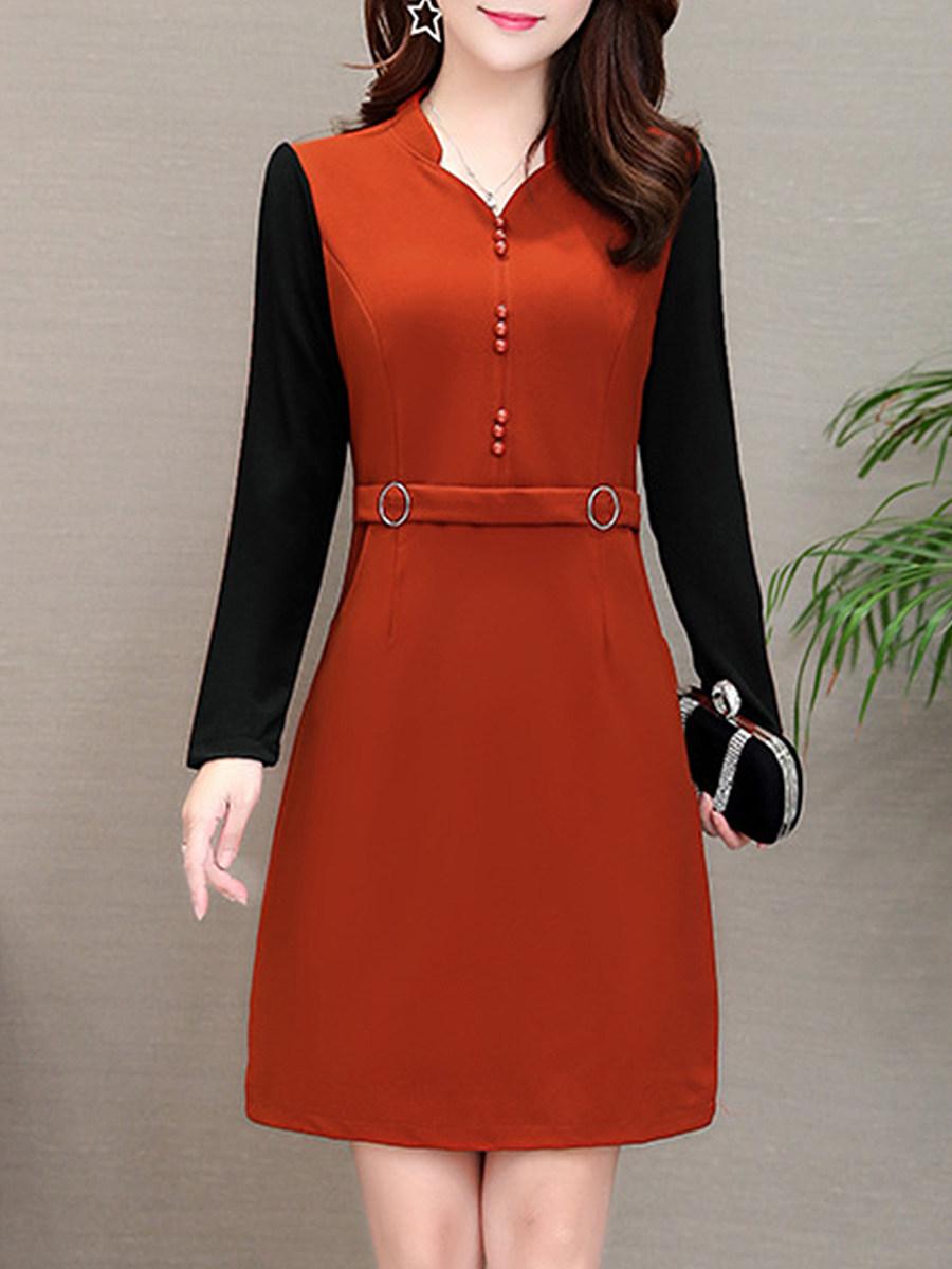 Women's elegant long sleeve dress - from $20.95