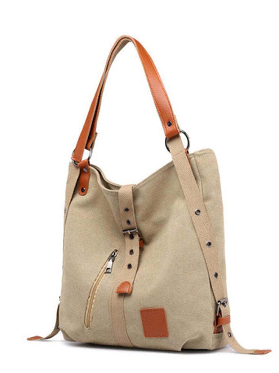 BerryLook Spot fashion new literary multi-function hand-held shoulder shoulder Korean style canvas women's bag creative