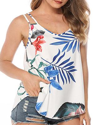 Print Sleeveless T-shirt, 23699812