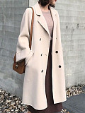 Long fold-over collar coat