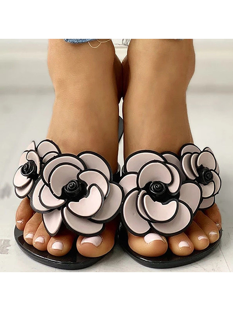 BerryLook Fashion flower flat comfortable sandals