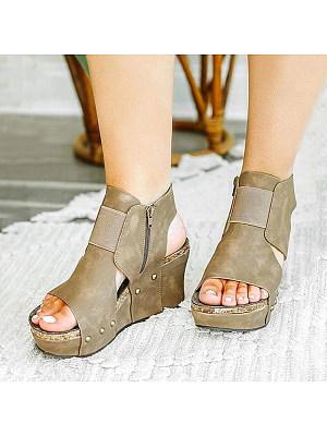 Women's fashion comfortable wedge sandals, 24026808