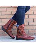 Image of Pure color warm high-top fashion women's shoes