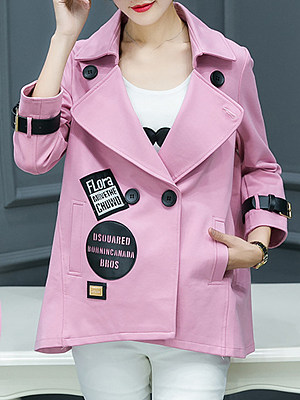 Women's Fashion Casual Short Coat gender:female, season:autumn,winter,spring, texture:polyester, pattern_type:printing, sleeve_length:long sleeve, style:japan and south korea, collar_type:fold collar, dress_occasion:daily, bust:110,clothing length:68.5,shoulder width:41.5,