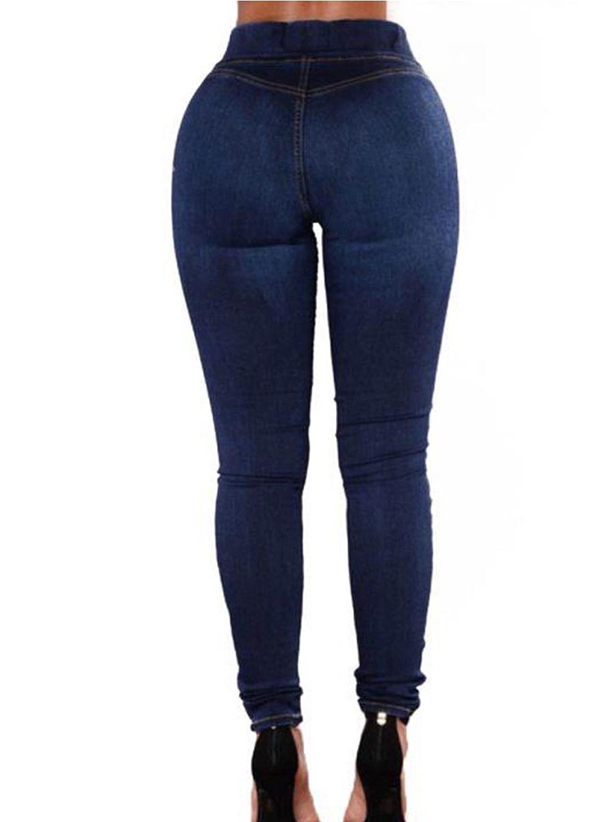High waist skinny jeans slacks