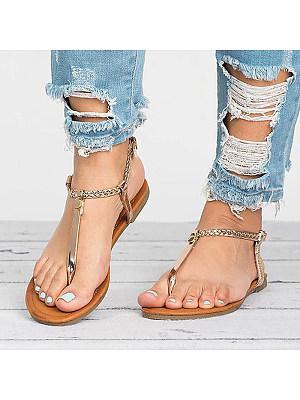 Fashion Flat Flip Flops, 11231425