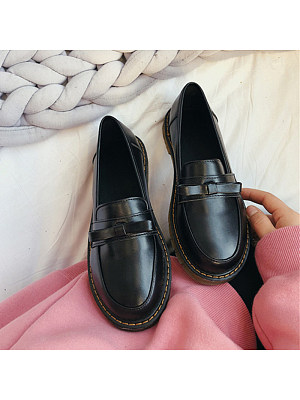 British Flat Round Toe Casual Shoes