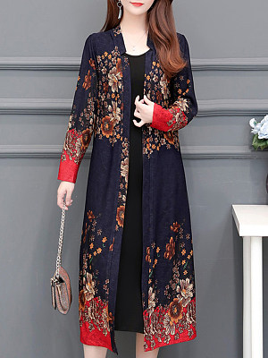Floral Long Sleeve Cardigan, 11243277