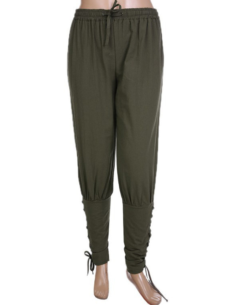 BerryLook Solid color loose casual trousers