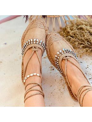 Roman style flat cross strap sandals, 11265746