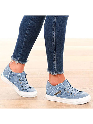 Women's flat casual Sneakers фото