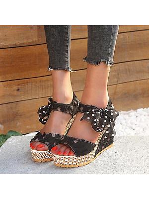 Bohemian Wedge Wedge Sandals, 11332733