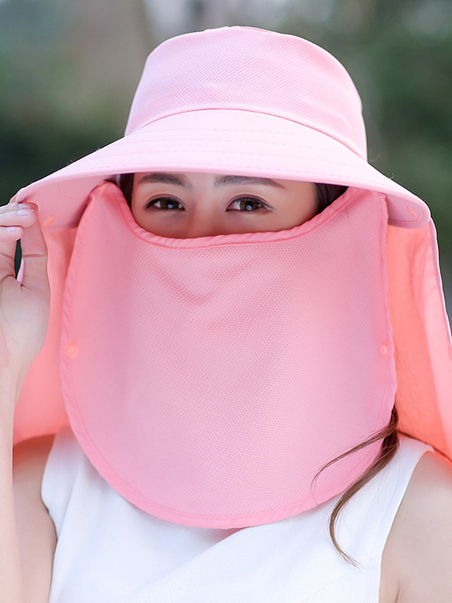 Face visor sun hat sun hat detachable Korean version of the bicycle anti-ultraviolet beach hat