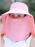 Image of Face visor sun hat sun hat detachable Korean version of the bicycle anti-ultraviolet beach hat