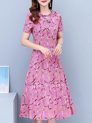 Berrylook Round Neck Floral Printed Maxi Dress online shop, online, long sleeve maxi dress, floral maxi dress
