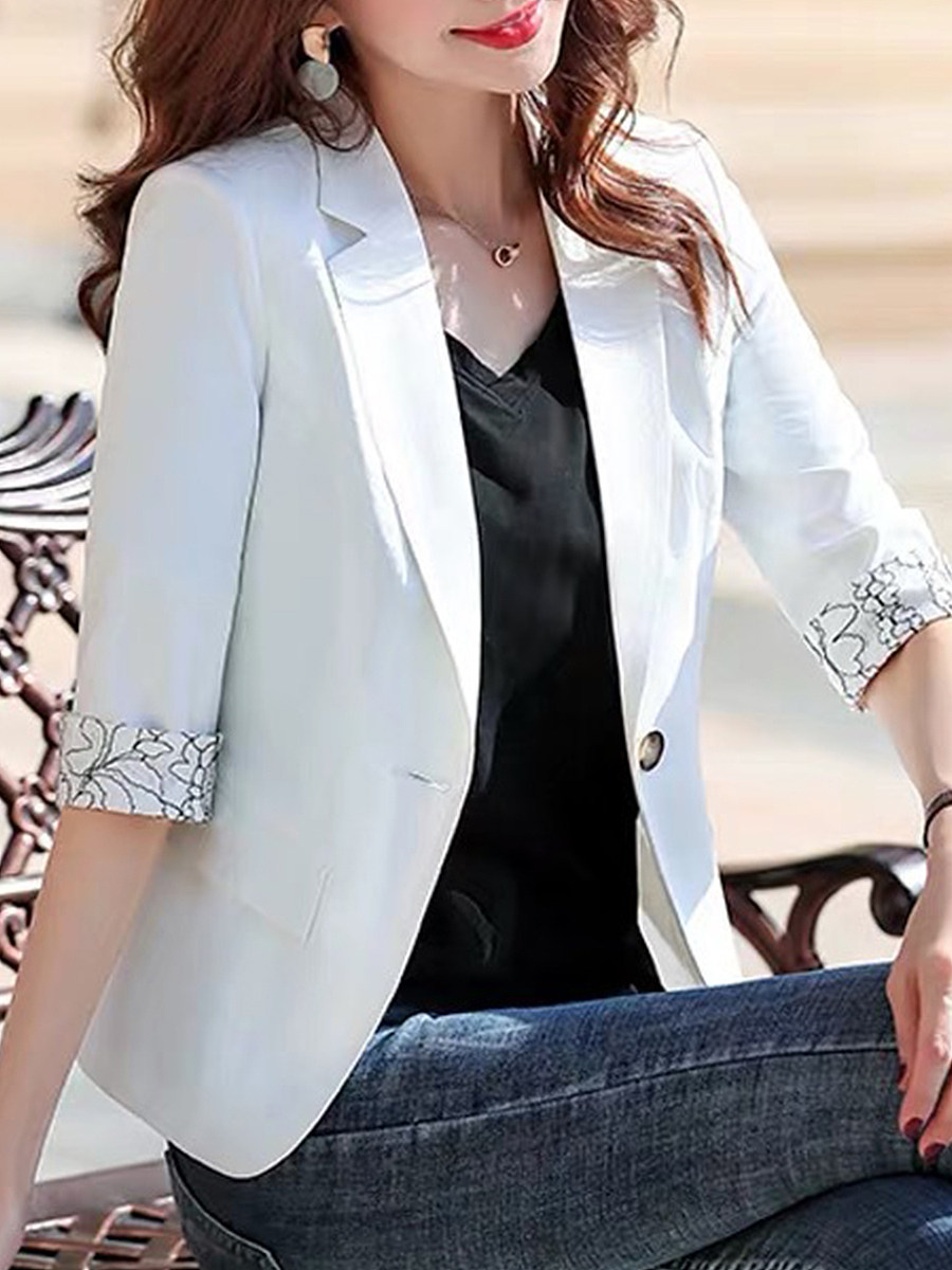 3/4 sleeve suit Blazer