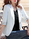 Image of 3 / 4 sleeve Lapel Blazer