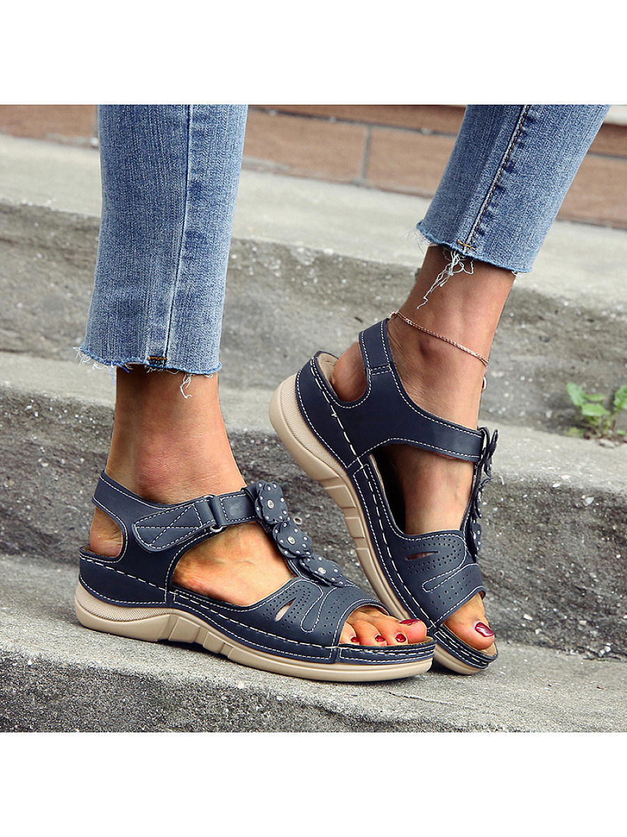 BerryLook Thick sole mother shoes flower sandals