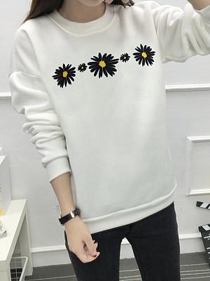 Fashion Print Crew Neck Sweater фото