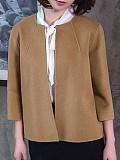Image of Woolen Cardigan Short Woolen Cloak Coat