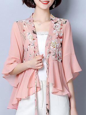 Floral Half Sleeve Cardigan, 11247286