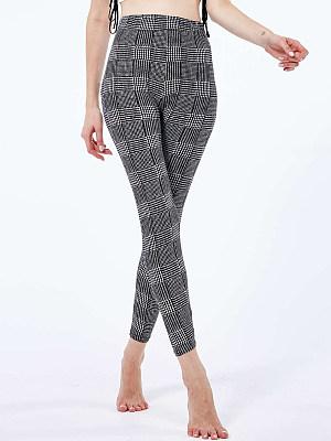 BERRYLOOK Fashion Check High Waist Slim Leggings