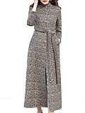 Image of Slim-Fit Stand-Collar Woolen Coat