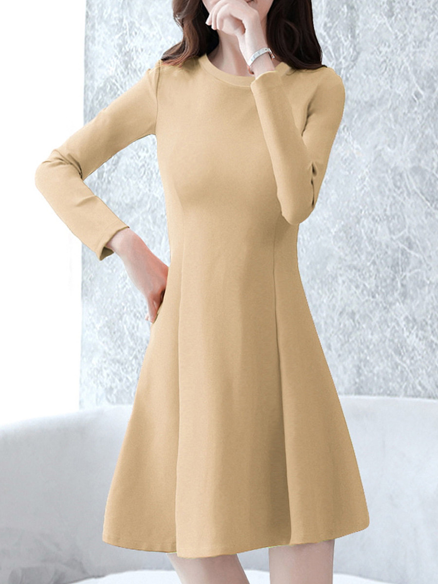 Fashion lady  Round neck Shift dress - from $14.95