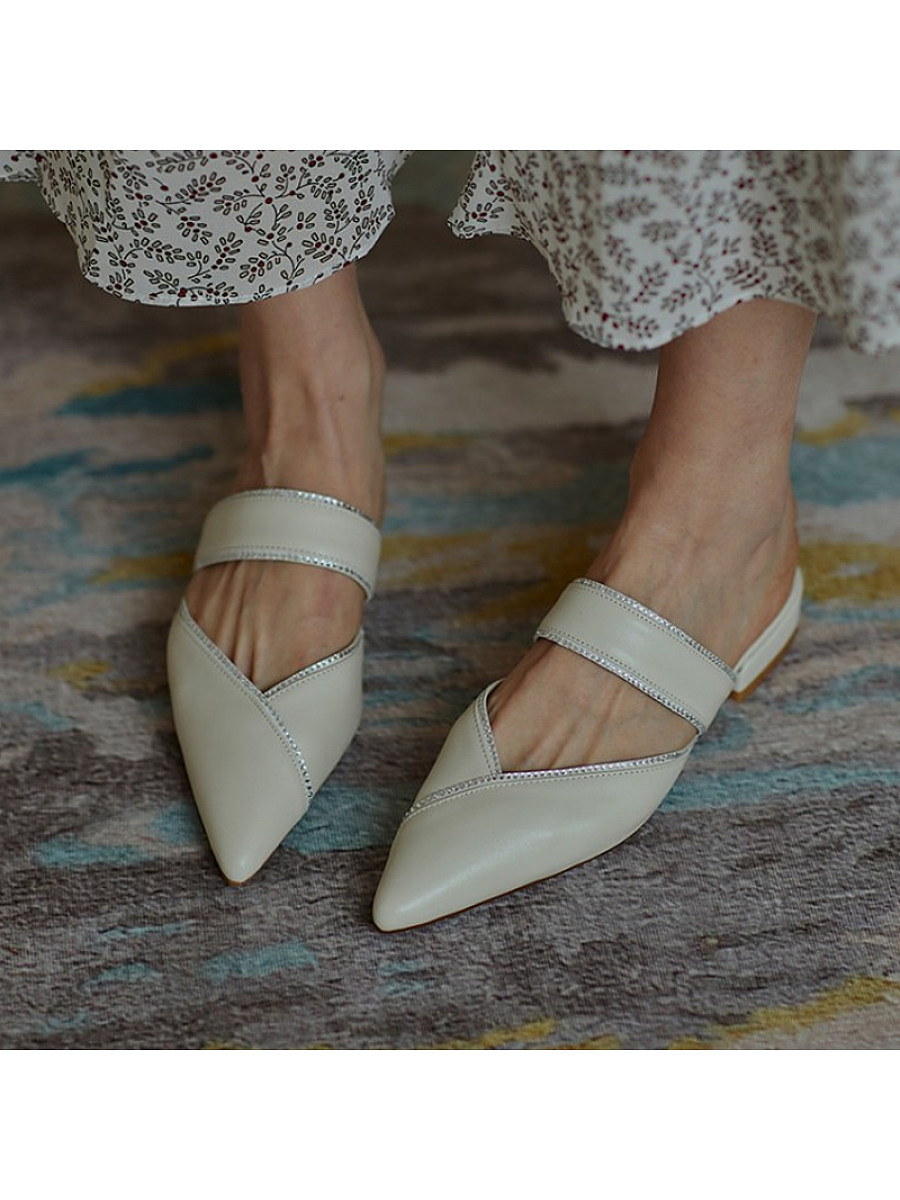 Women's fashion pointed flat slippers