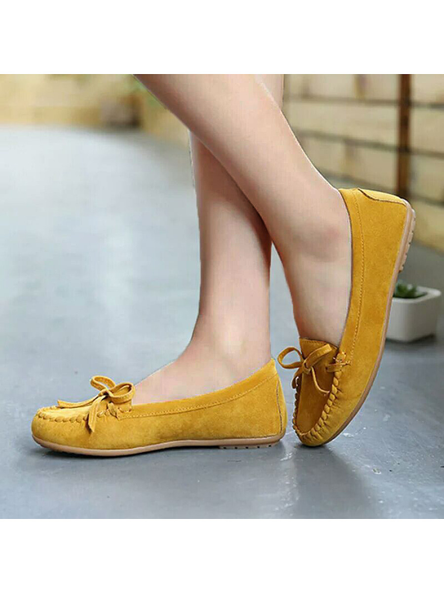 Women's casual flat suede non-slip shoes - from $14.95
