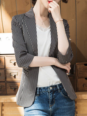Temperament Slim-Fold Collar Blazer фото