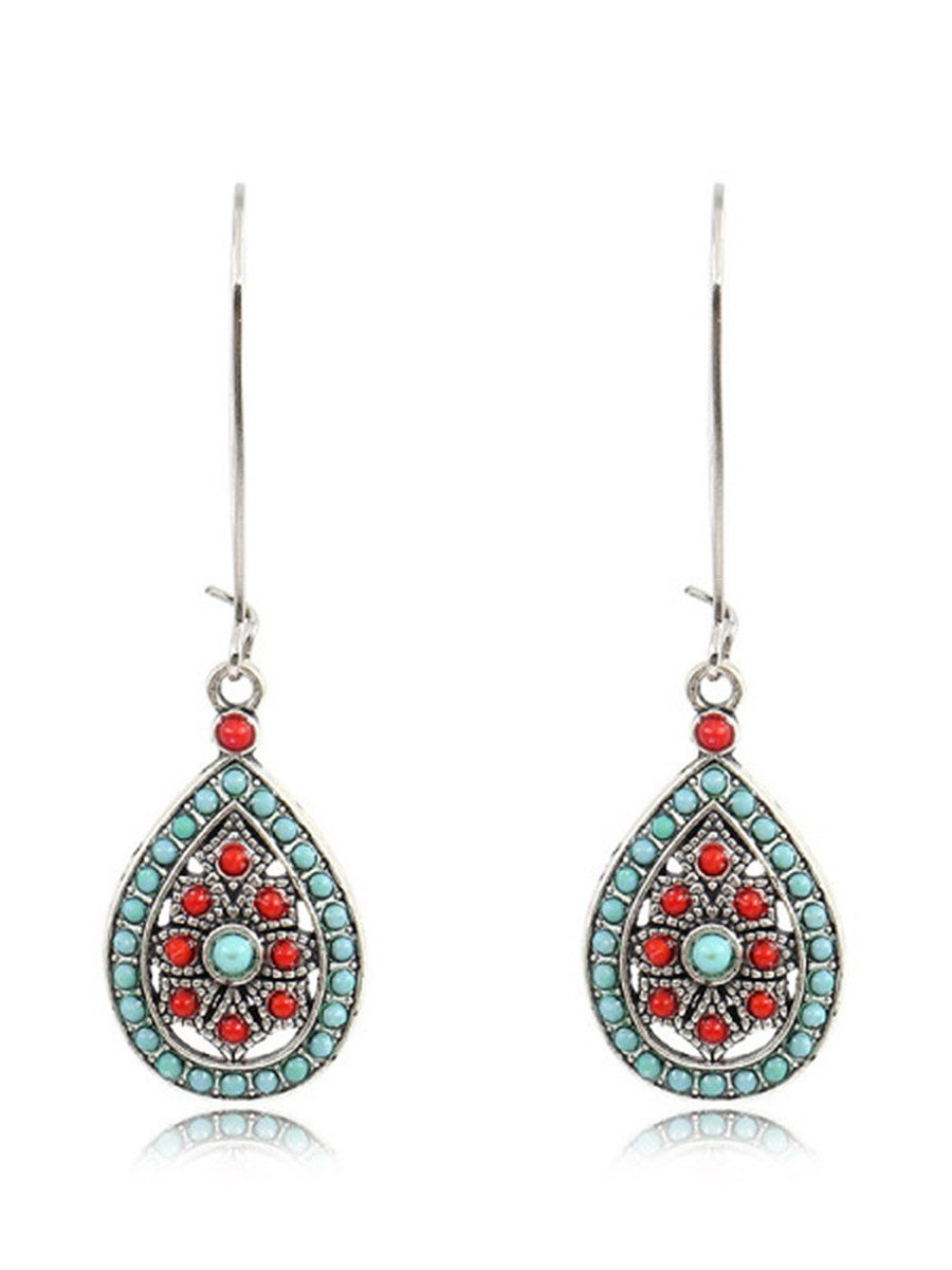 Bohemian Water Drop Large Earrings