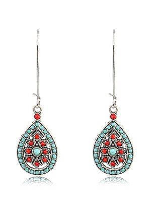 Buy Earrings online sale, online shopping sites from Berrylook Apparel & Accessories>Jewelry>Earrings, Berrylook Bohemian Water Drop Large Earrings is well made of alloy and it\\\'s features are: . Find best Earrings at Berrylook.com