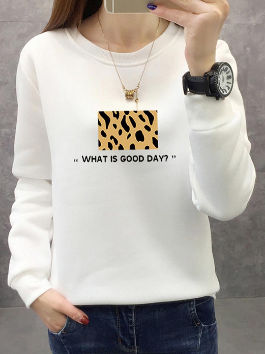 Stylish Long Sleeve Round Neck Print Sweatshirt