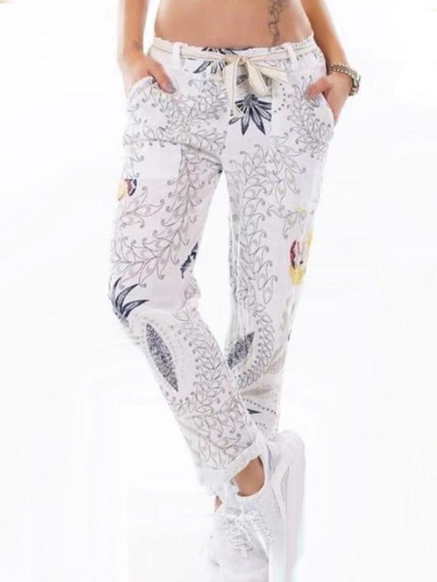 BerryLook Fashion loose printed wide leg pants casual pants