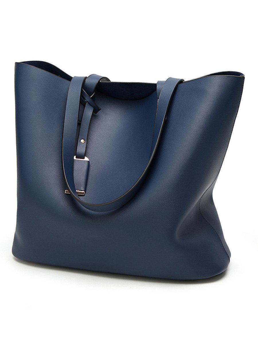 Women's simple solid color shoulder bag