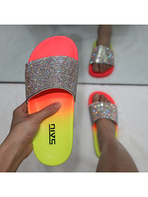 Symphony rhinestone flat slippers, 23963415