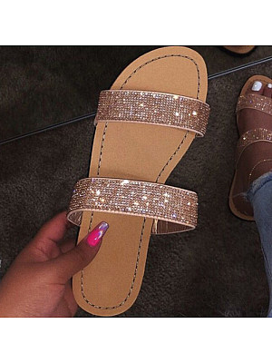Roman style sparkling bright diamond sandals фото