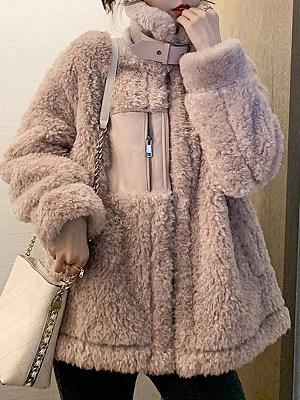 Collar zipper female Coat