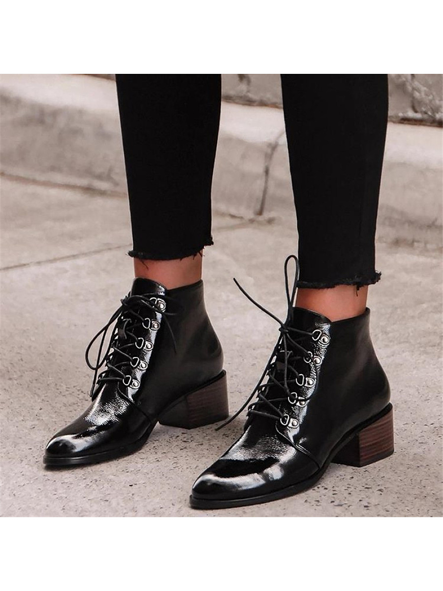 Fashion women's round-toe lace-up martin boots