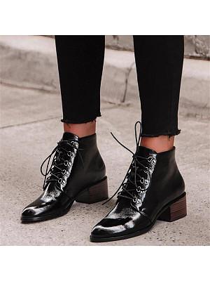 Fashion women's round-toe lace-up martin boots, 10660967