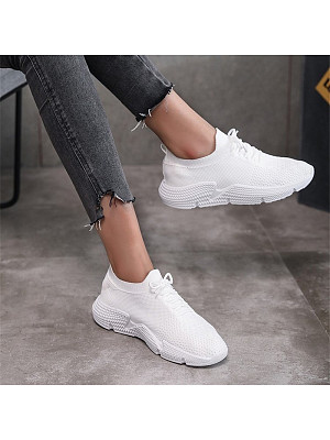 Women's casual fly-knit socks shoes фото