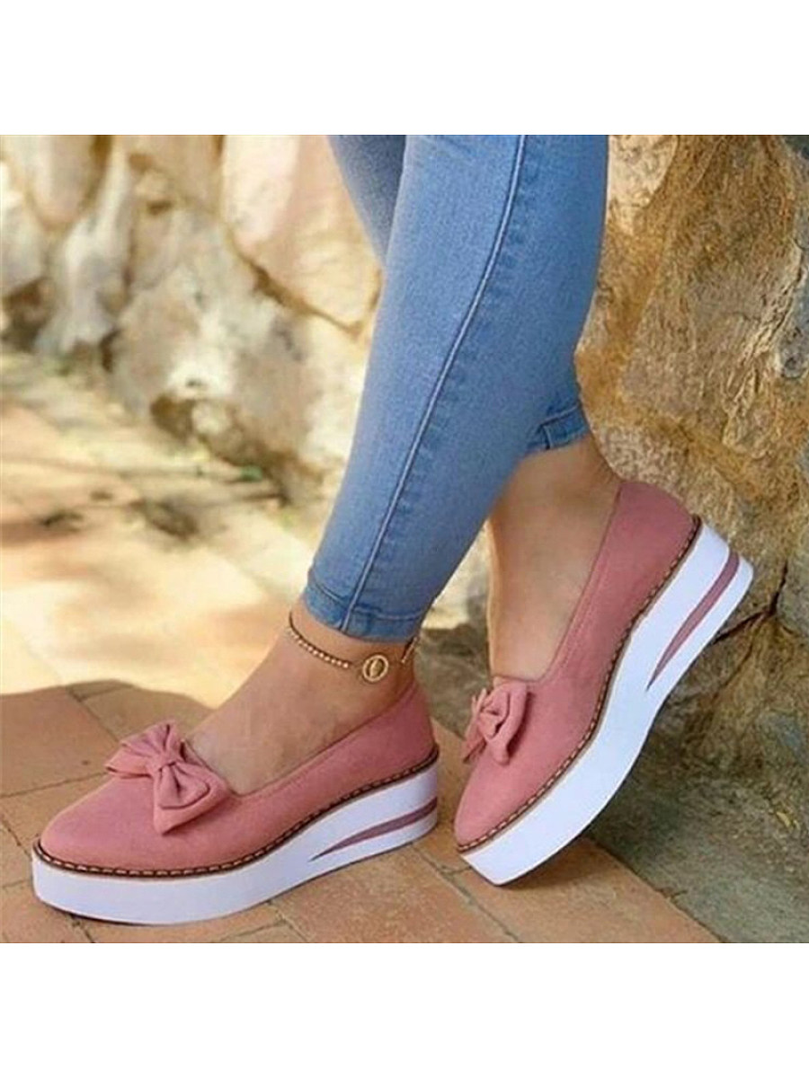 BerryLook Women's  Fashionable and comfortable bow sneakers