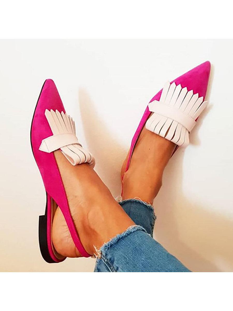 BerryLook Women's Buckled Denim Heel Sandals