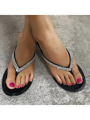 Fashion color diamond herringbone sandals